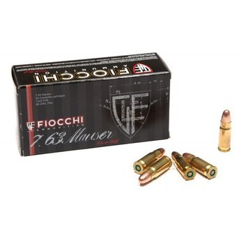 Amunicja 7,63 Mauser Fiocchi FMJ 5,7g/88gr (50 szt.)