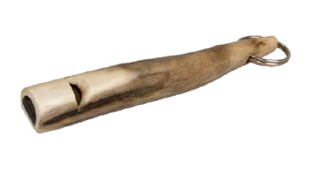 Gwizdek na psa z rogu jelenia 13 cm
