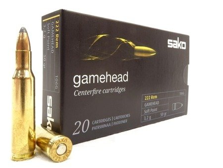 Amunicja .222 Rem SAKO Gamehead SP 3.2g/50gr (20 szt.)