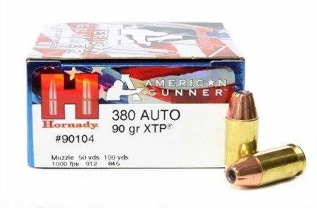 Amunicja .380 Auto Hornady XTP American Gunner 5,8g/90gr (25 szt.)