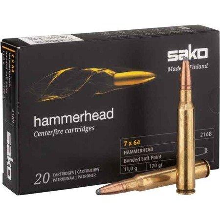 Amunicja 7x64 SAKO Hammerhead SP 11g/170gr (20 szt.)