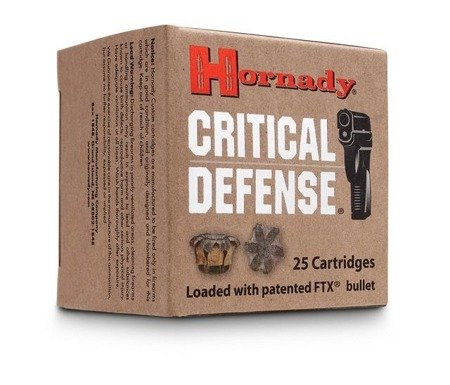 Amunicja 9x19 Hornady FTX Critical Defence 7,5g/115gr (25 szt.)