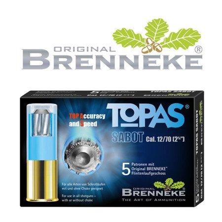 Amunicja kal. 12/70 Brenneke TOPAS Sabot 20g (5szt)
