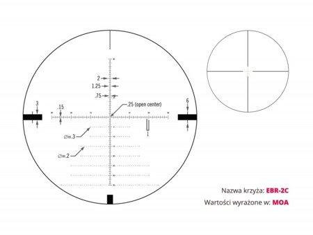 Luneta celownicza Vortex Diamondback Tactical 4-16x44 FFP 30 mm AO EBR-2C MRAD