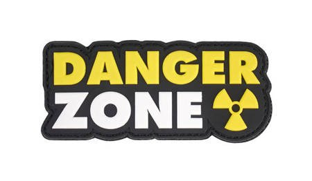 Naszywka 3D Danger Zone żółto-biała - 101 Inc.
