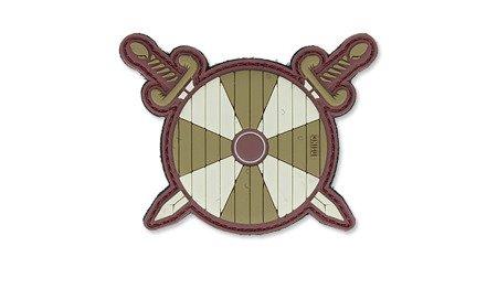 Naszywka 3D - Viking Shield with 2 swords