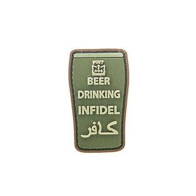 Naszywka Beer Drinking Infidel - zielona
