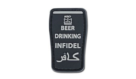 Naszywka Beer drinking infidel - czarna