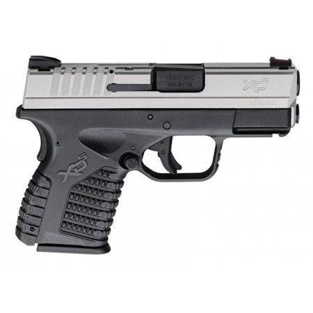 """Pistolet XDS-9 3,3"""", kal. 9x19mm Srebrno-czarny"""
