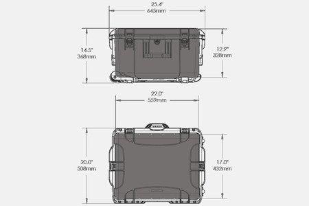 Skrzynia transportowa NANUK 960 oliwkowa - wkład modułowy FOTO