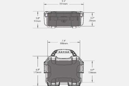 Skrzynia transportowa Nanuk 903 grafitowa - pianka modułowa wyrywana