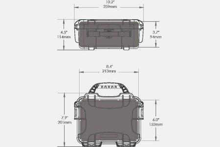 Skrzynia transportowa Nanuk 904 limonkowa - pianka modułowa wyrywana