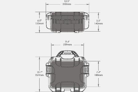 Skrzynia transportowa Nanuk 905 limonkowa - wkład modułowy FOTO