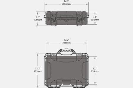 Skrzynia transportowa Nanuk 910 DJI™ OSMO żółta