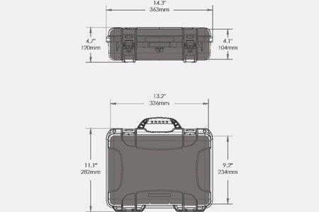 Skrzynia transportowa Nanuk 910 oliwkowa - pianka modułowa wyrywana