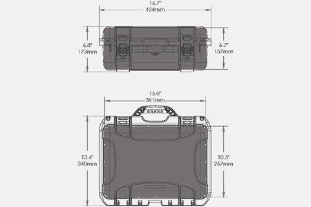 Skrzynia transportowa Nanuk 920 DJI™ MAVIC 2 PRO srebrna