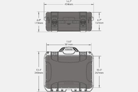 Skrzynia transportowa Nanuk 920 DJI™ MAVIC grafitowa