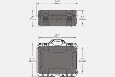 Skrzynia transportowa Nanuk 920 srebrna - pianka modułowa wyrywana