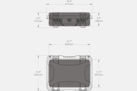 Skrzynia transportowa Nanuk 923 grafitowa - pianka modułowa wyrywana