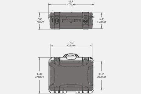 Skrzynia transportowa Nanuk 925 pomarańczowa - wkład modułowy FOTO