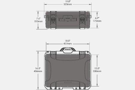 Skrzynia transportowa Nanuk 930 grafitowa - wkład modułowy FOTO