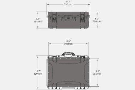Skrzynia transportowa Nanuk 940 srebrna - wkład modułowy FOTO