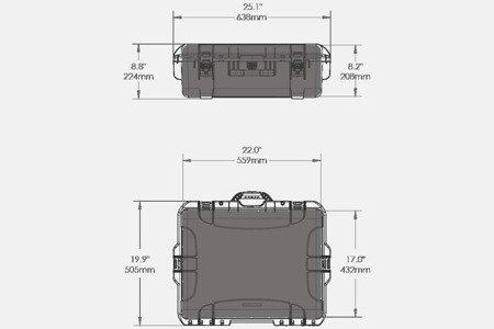 Skrzynia transportowa Nanuk 945 grafitowa - pianka modułowa wyrywana