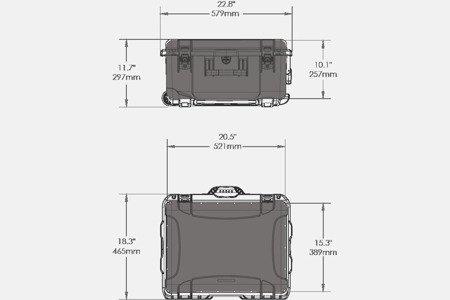 Skrzynia transportowa Nanuk 950 DJI™ PHANTOM 4 żółta