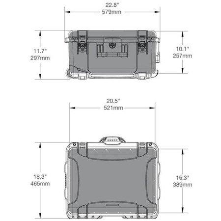 Skrzynia transportowa Nanuk 950 pomarańczowa - wkład modułowy FOTO