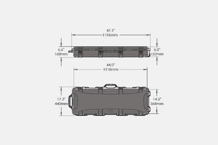 Skrzynia transportowa Nanuk 990 Czarny - pianka dociskowa FALA