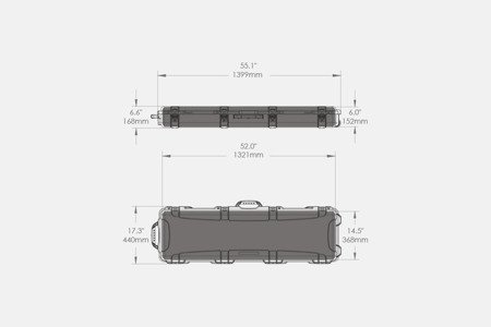 Skrzynia transportowa Nanuk 995 Tan - pianka dociskowa FALA