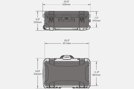 Skrzynia transportowa Nanuk 935 czarna - wkład modułowy FOTO